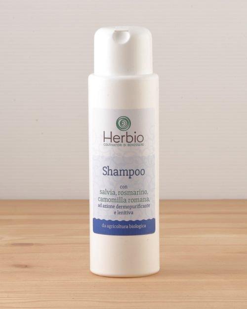 Shampoo con salvia, rosmarino e camomilla romana